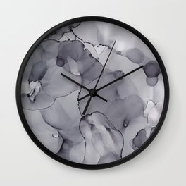 Alcohol Ink - Neutral Gray Wall Clock