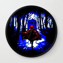 Shadow Light Of Tardis Wall Clock