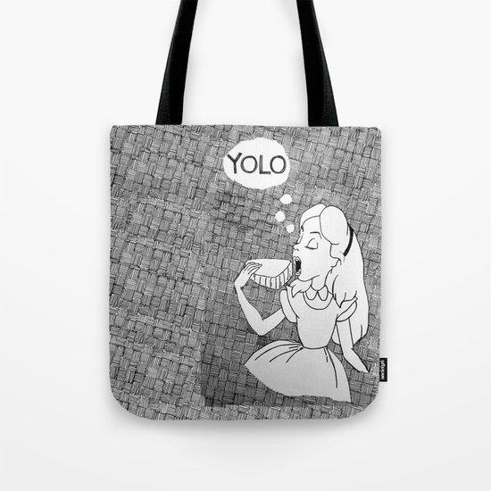 YOLO Alice Tote Bag