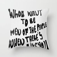 arctic monkeys Throw Pillows featuring Arctic Monkeys 'Like You' by SLIDE