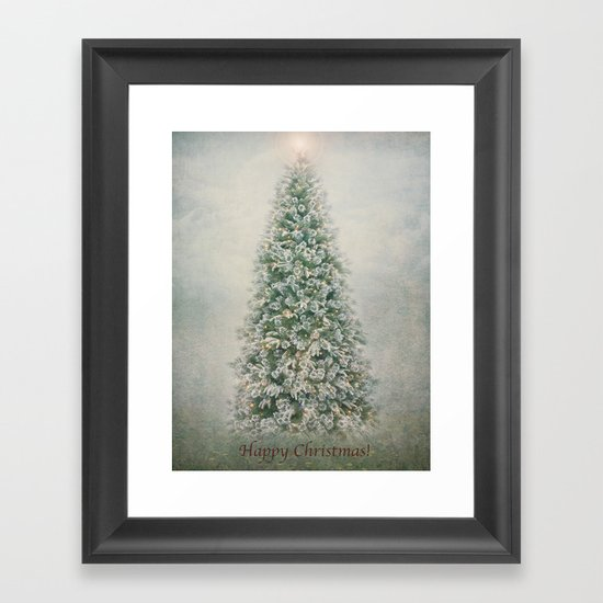 Happy Christmas to everyone on Society6!!! Framed Art Print