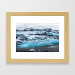 Jökulsárlón Glacier Lagoon, Iceland Framed Art Print