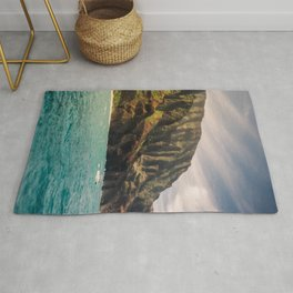Na Pali Coast Kauai Hawaii Printable Wall Art | Tropical Beach Nature Ocean Coastal Travel Photography Print Rug