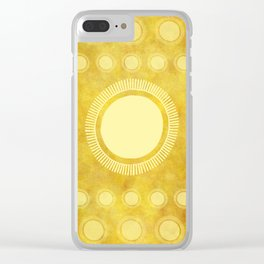 """Gold & Yellow Ethnic Sun (Pattern)"" Clear iPhone Case"