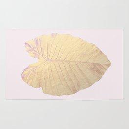 Gold leaf - heart Rug