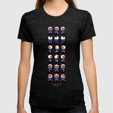 Bomberman Womens Fitted Tee X-LARGE Tri-Black