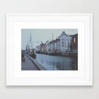 copenhagen Framed Art Prints featuring Copenhagen by Gabriri
