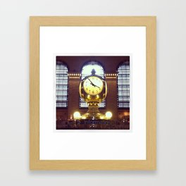 Grand Central Clock Framed Art Print