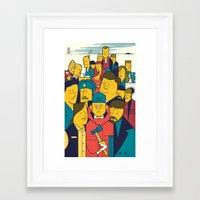 fargo Framed Art Prints featuring Fargo by Ale Giorgini