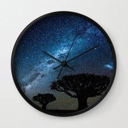 NIGHT IN THE DESERT Wall Clock