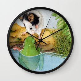The mouse and the frog Wall Clock