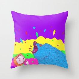 Flippin the bear Throw Pillow