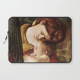 Caravaggio Flight Into Egypt detail Mary and Child Laptop Sleeve