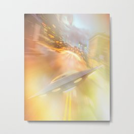 Downtown UFO Metal Print