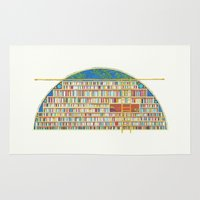 library Area & Throw Rugs featuring Dream Library by Jet McLeod