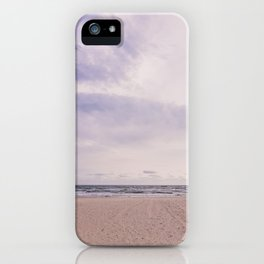 Empty beach iPhone Case