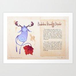 Real Monsters- Borderline Art Print