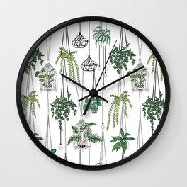 hanging pots pattern Wall Clock