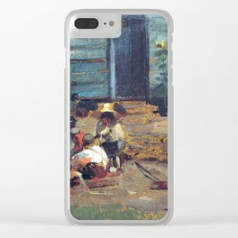 Winslow Homer Sketch of a Cottage Yard Clear iPhone Case