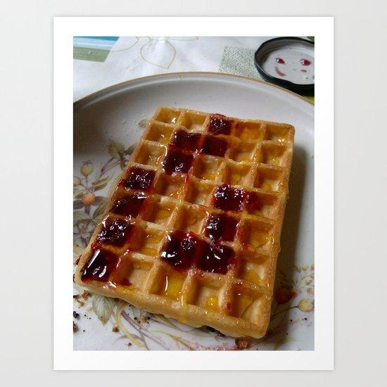 Waffles & Tetrimino Jam Art Print