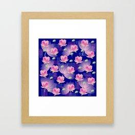 Pink Lotus Framed Art Print