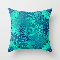 Throw Pillows featuring Sun by Selena Gazda