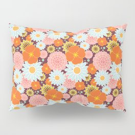 Happy Flowers in maroon Pillow Sham