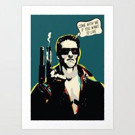 The Terminator Pop art film quote Art Print