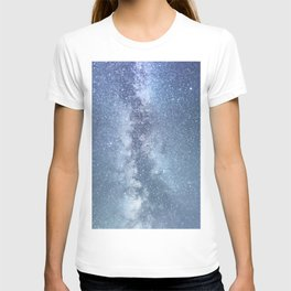 Starry sky with millions of stars, Milky Way galaxy T-shirt