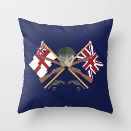 Great war Flat Design Of United Kingdom Throw Pillow