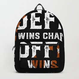 Offense Wins Games Defense Wins Championships - Funny Football Shirts Backpack