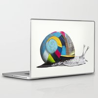 snail Laptop & iPad Skins featuring Snail by Sary and Saff