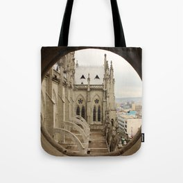 Lost in a Gotic cathedral Tote Bag