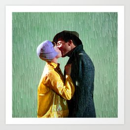 Singin' in the Rain - Green Art Print