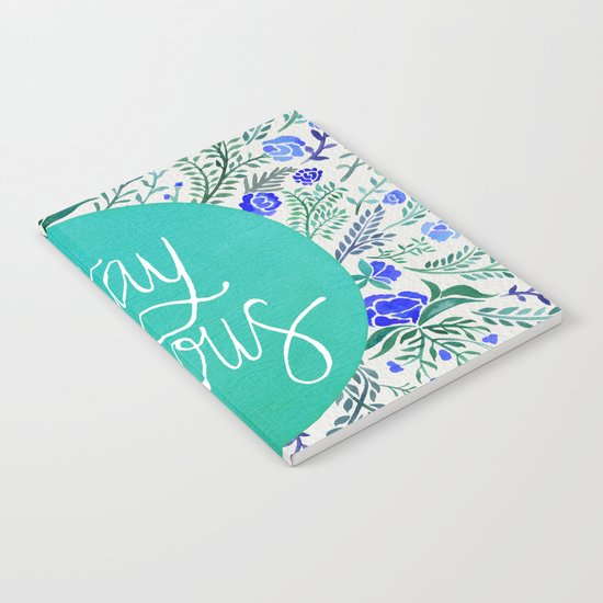Stay Curious – Navy & Turquoise Notebook