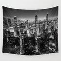 Chicago Skyline at Night by lenamirisola