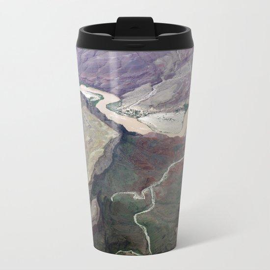 Grand Canyon bird's eye view #1 Metal Travel Mug