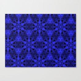 Mandala Pattern (Royal Blue/Black) Canvas Print