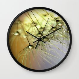 Dandelion & Droplets Wall Clock