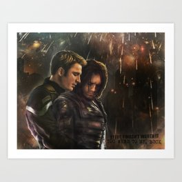 Cap and Bucky - Worth Fighting For Art Print