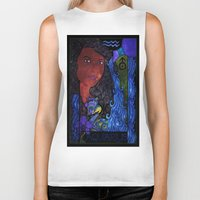 aquarius Biker Tanks featuring Aquarius by Laura Jean