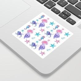 Watercolor Sea Life Sticker