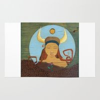 taurus Area & Throw Rugs featuring Taurus by LeaK Arts