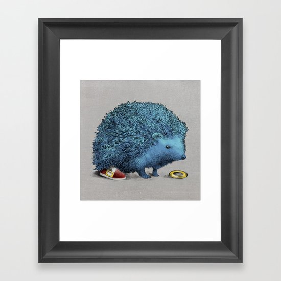 Sonic (color option) Framed Art Print