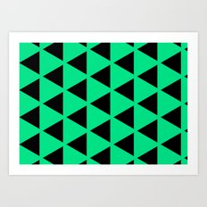 Sleyer Black on Green Pattern Art Print