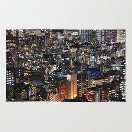 Tokyo Buildings at Night Rug