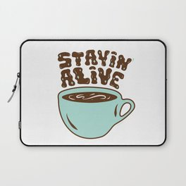 Stayin' Alive in Turquoise Laptop Sleeve