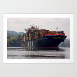 Cargo ship Art Print