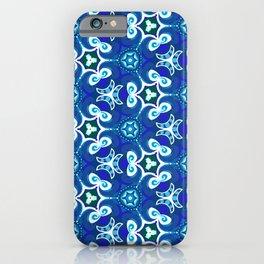 Blue Waves Fractals iPhone Case