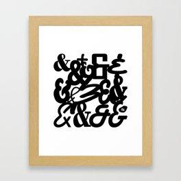 LATE NIGHT TALKS Framed Art Print